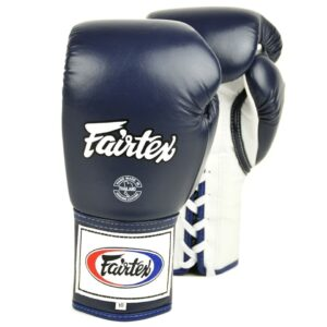 Fairtex Blue Lace-up Competition Gloves