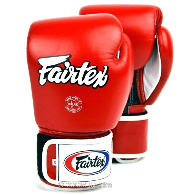 Fairtex 3-Tone Red Boxing Gloves