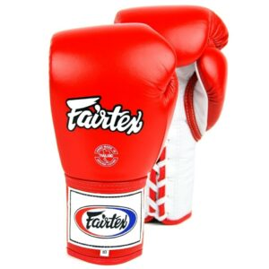 Fairtex Red Lace-up Competition Gloves