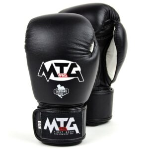 MTG Pro Black Velcro Boxing Gloves
