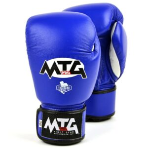 MTG Pro Blue Velcro Boxing Gloves