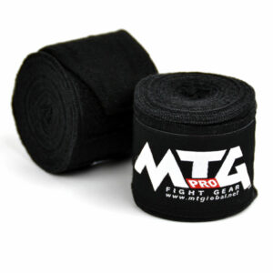 MTG Pro Black Elasticated Hand Wraps