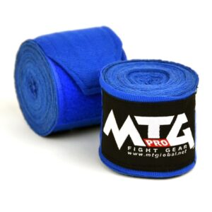 MTG Pro Blue Elasticated Hand Wraps