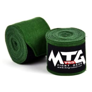 MTG Pro Dark Green Elasticated Hand Wraps
