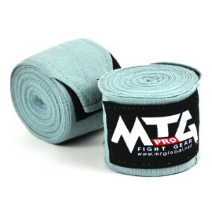 MTG Pro Grey Elasticated Hand Wraps