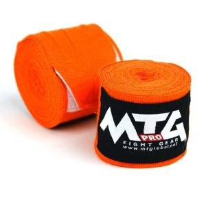 MTG Pro Orange Elasticated Hand Wraps