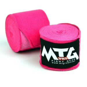 MTG Pro Pink Elasticated Hand Wraps