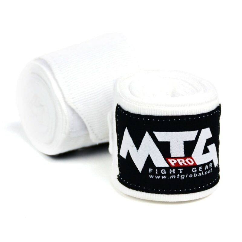 MTG Pro White Elasticated Hand Wraps