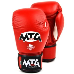 MTG Pro Red Velcro Boxing Gloves