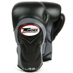 Twins Black & Grey Deluxe Sparring Gloves