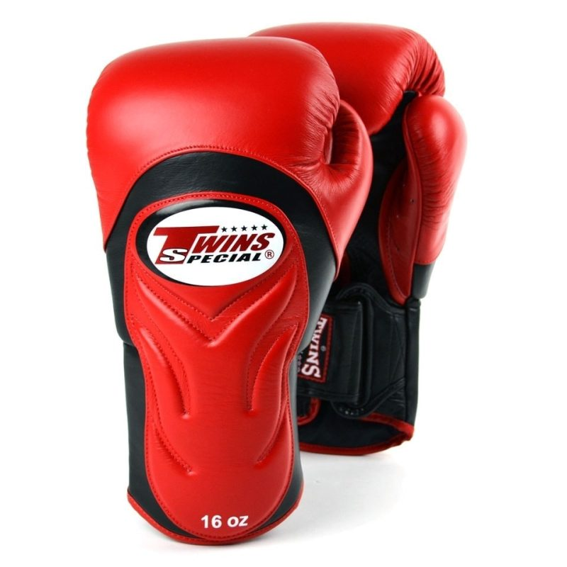 Twins Red & Black Deluxe Sparring Gloves