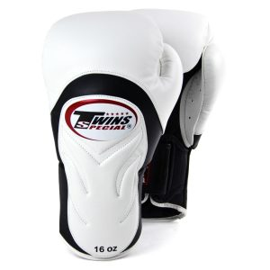 Twins White & Black Deluxe Sparring Gloves