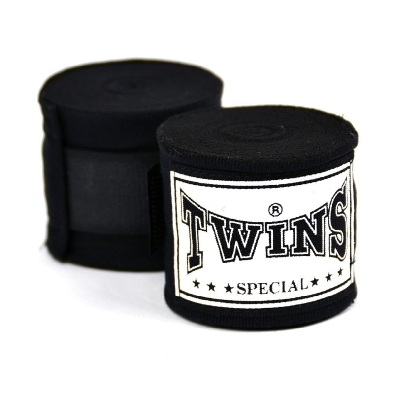 Twins 5m Black Premium Stretch Hand Wraps