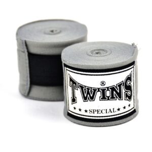 Twins 5m Grey Premium Stretch Hand Wraps