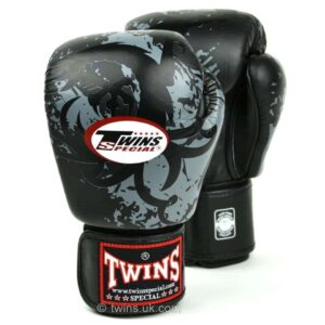 Twins Black Tribal Dragon Boxing Gloves
