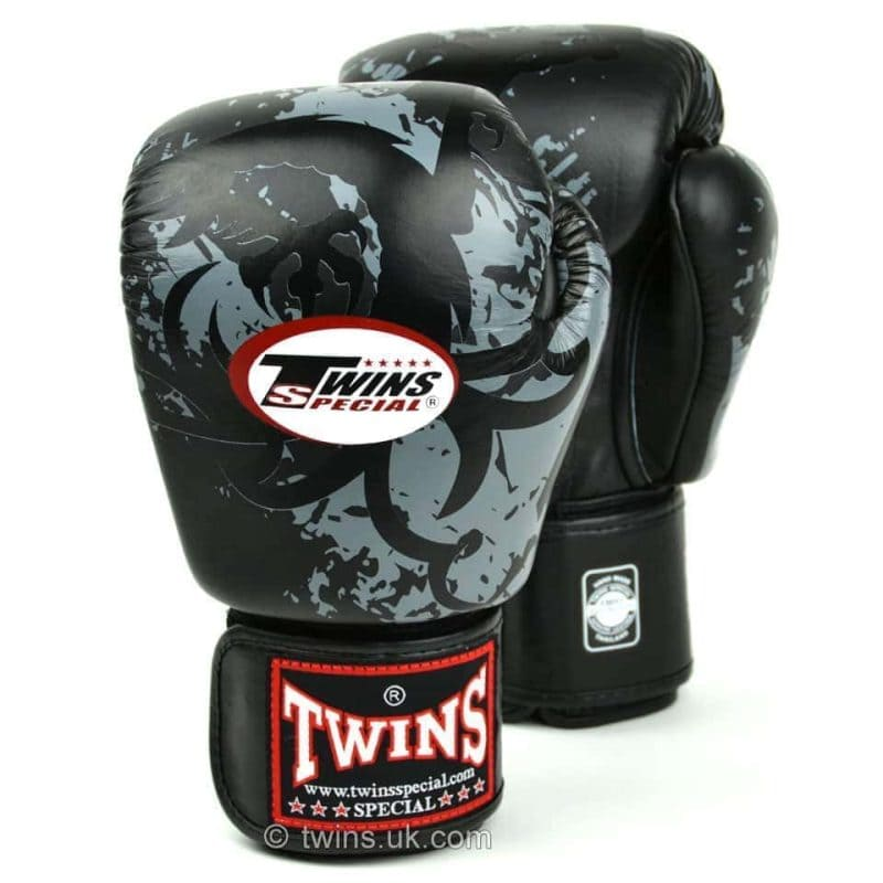 Twins Black Tribal Dragon Boxing Gloves