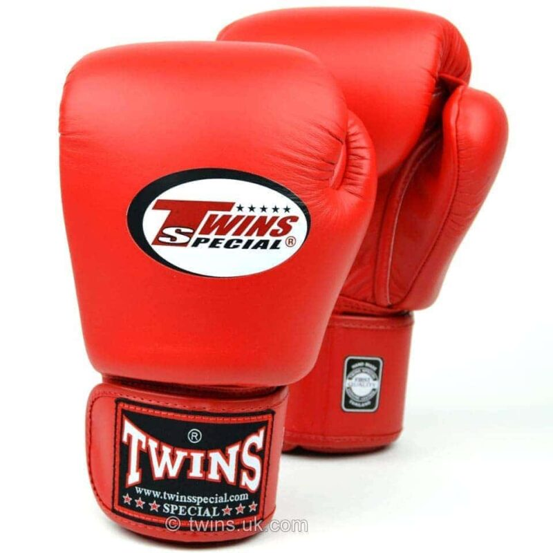 Twins Red Velcro Boxing Gloves