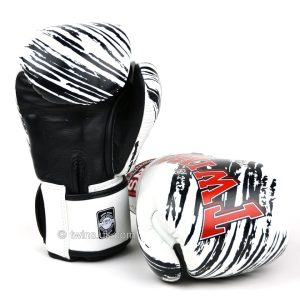 Twins White & Black Claw Boxing Gloves