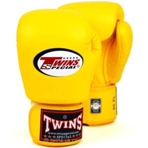 Twins Yellow Velcro Boxing Gloves