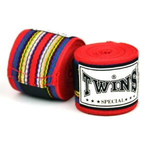 Twins 5m Red Premium Striped Hand Wraps