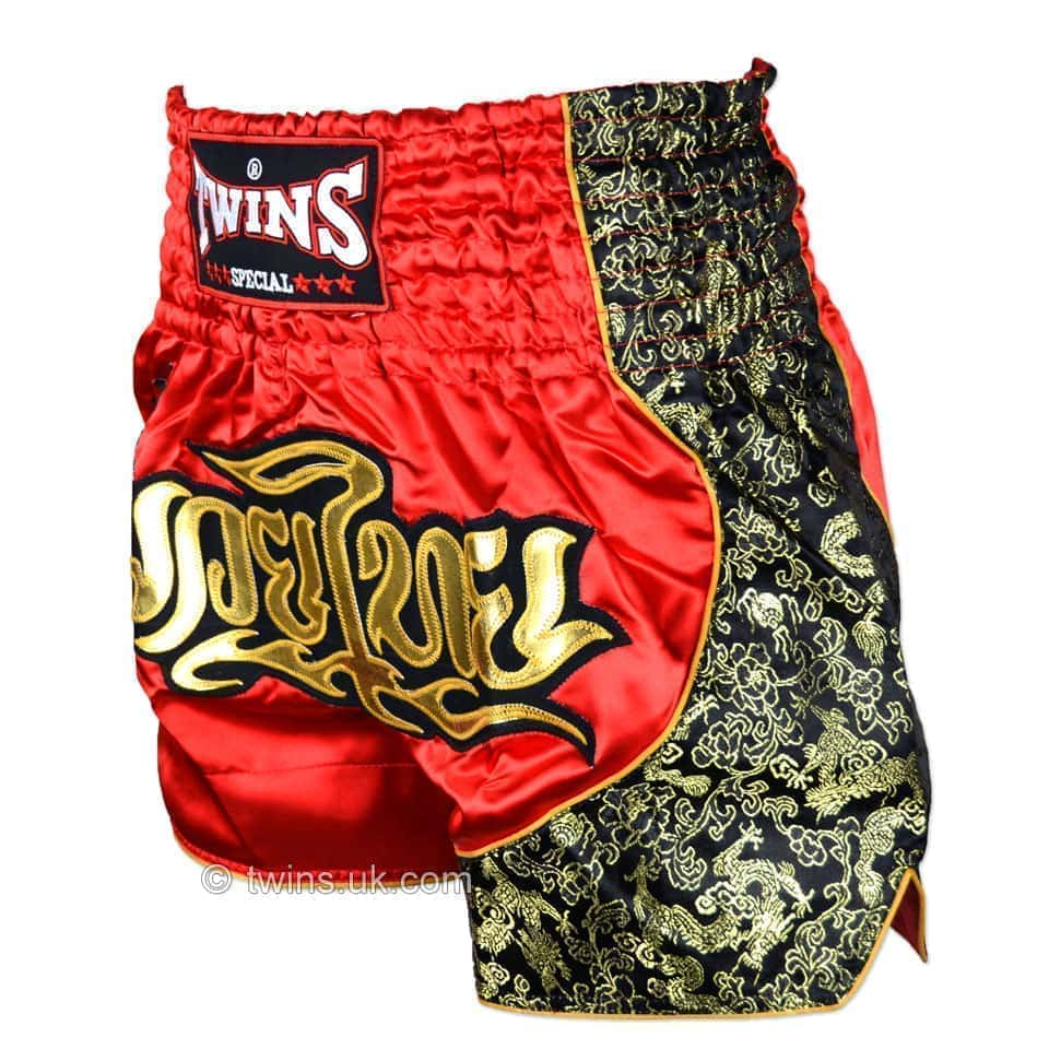 Twins Authentic Adults Muay Thai Fighting Shorts Red//Gold