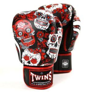Twins Red Skull Boxing Gloves