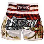 Twins red tartan shorts