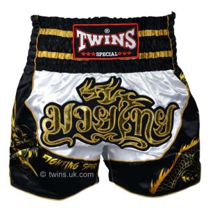 Twins white black dragon shorts
