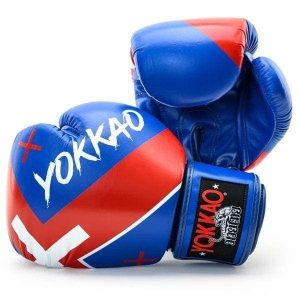 YOKKAO X Blue Boxing Gloves