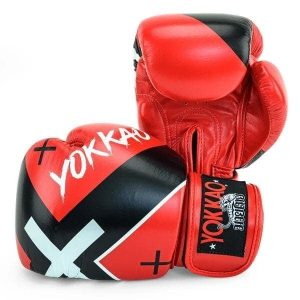 YOKKAO X Red Boxing Gloves