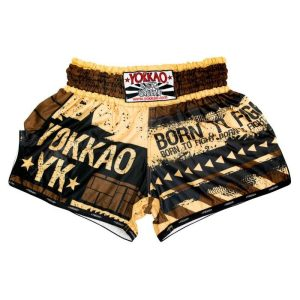 YOKKAO Carbonfit Hustle Gold shorts