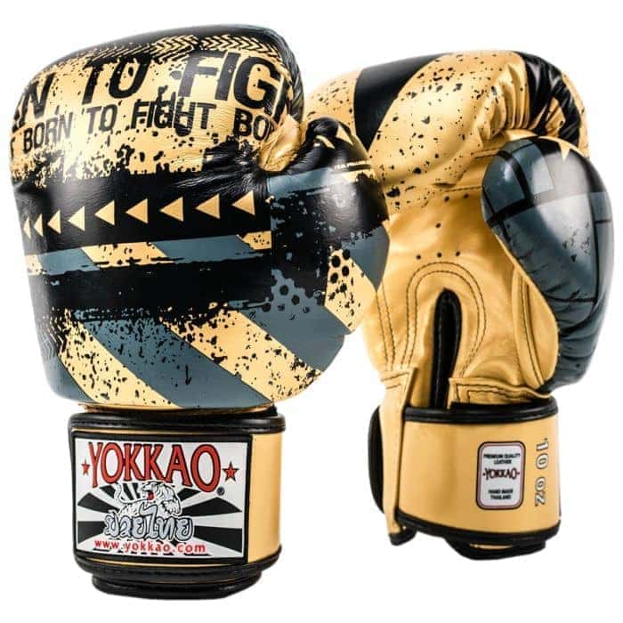 YOKKAO Hustle Gold/Black Boxing Gloves