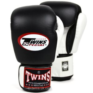 Twins 2-Tone Black & White Boxing Gloves