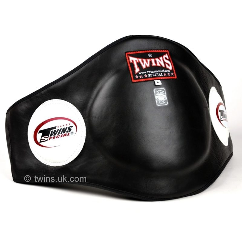 Twins Black Leather Belly Pad