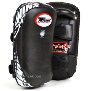 Twins Black Leather Thai Kick Pads