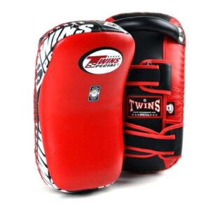 Twins Red Leather Thai Kick Pads