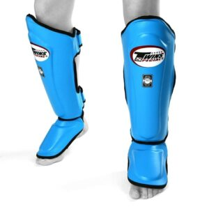 Twins light blue shin guards