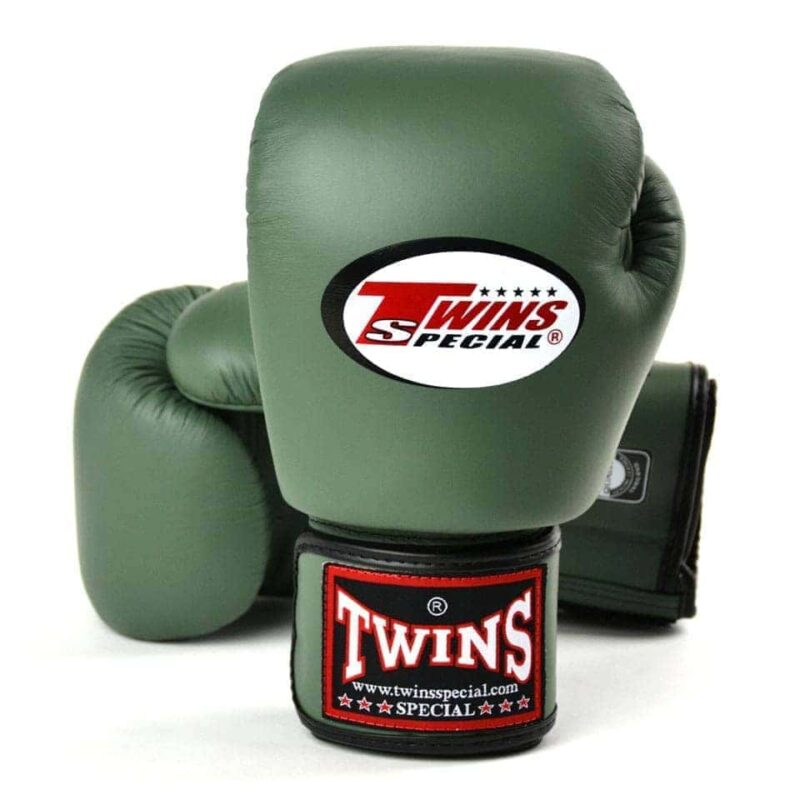 Twins olive green boxing gloves