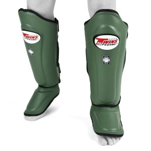 Twins olive green shin guards