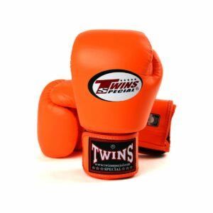 Twins orange boxing gloves