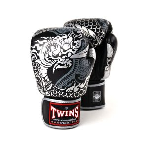 Twins silver black nagas boxing gloves