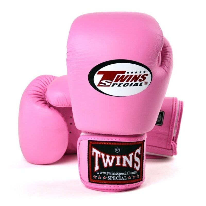 Twins pink boxing gloves