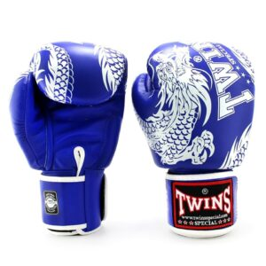 Twins Blue & White Flying Dragon Boxing Gloves