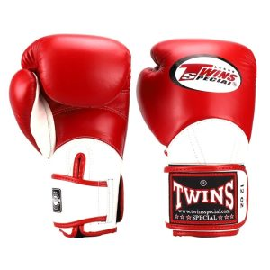 Twins Red & White BGVL11 Long-Cuff Boxing Gloves