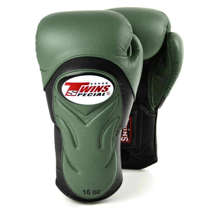 Twins Olive Green & Black Deluxe Sparring Gloves
