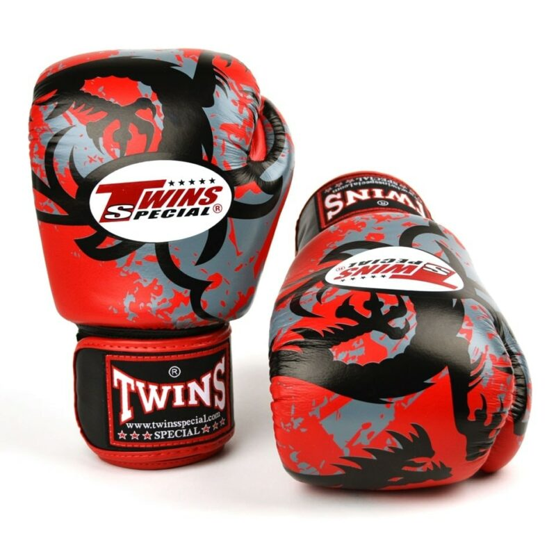 Twins FBGVL3-36 Red Tribal Dragon Boxing Gloves