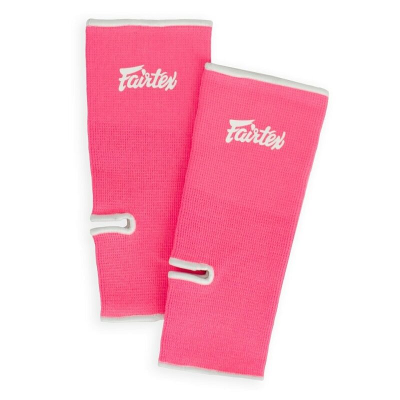 Fairtex AS1 Pink & White Ankle Supports